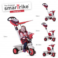 SMART TRIKE triratukas , Dream team 1590500, raudon Triratukas