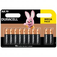 DURACELL baterijos AA, 10 vnt., DURB016 DURB016