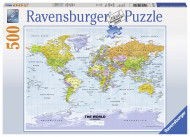 RAVENSBURGER dėlionė World Map Political 500vnt, 14755 14755