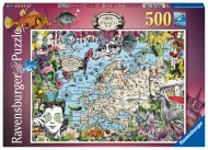 RAVENSBURGER dėlionė European Map Quirky Circus, 500d., 16760 16760