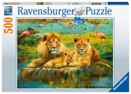 RAVENSBURGER dėlionė Lions in the Savannah, 500d., 16584 16584