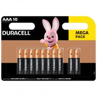 DURACELL baterijos AAA, 10 vnt.,DURB066 DURB066