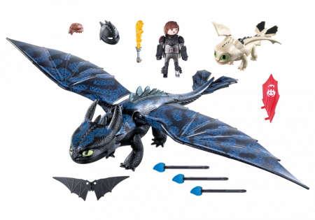 PLAYMOBIL DRAGONS Hiccup and Toothless Playset, 70037 70037