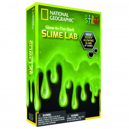 NATIONAL GEOGRAPHIC rinkinys Slime Science 3it Green, NGSLIME NGSLIME