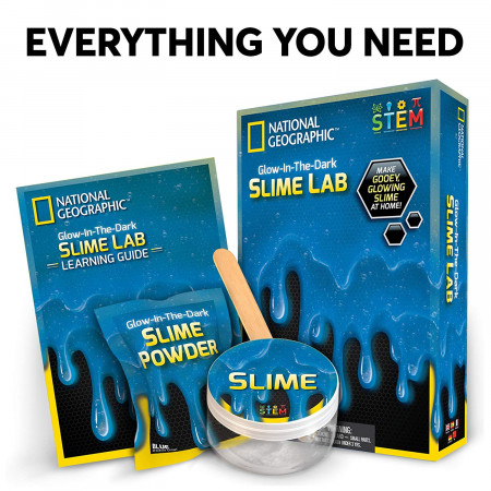 NATIONAL GEOGRAPHIC rinkinys Slime Science Kit Blue, NGSLIMEB NGSLIMEB